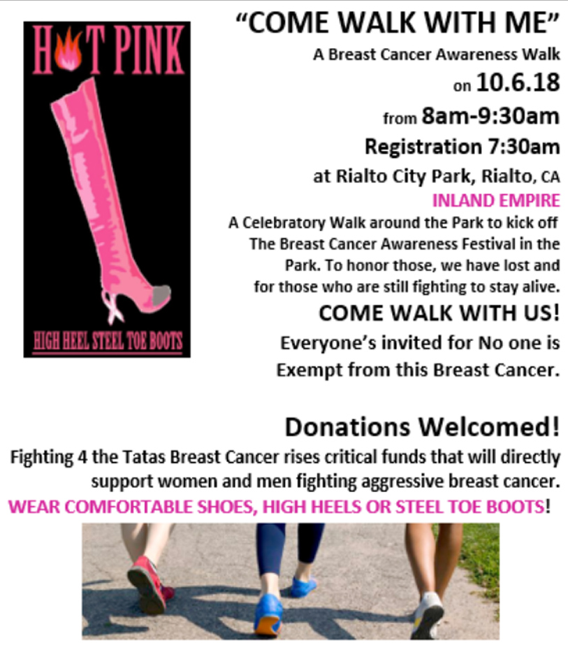 Fighting for the tatal breast cancer walk