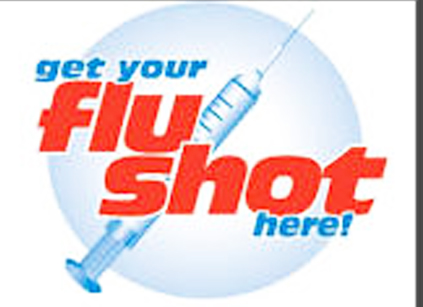 Flu Shot here image