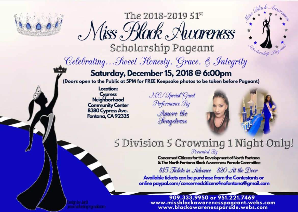 Miss Black Awareness Flyer