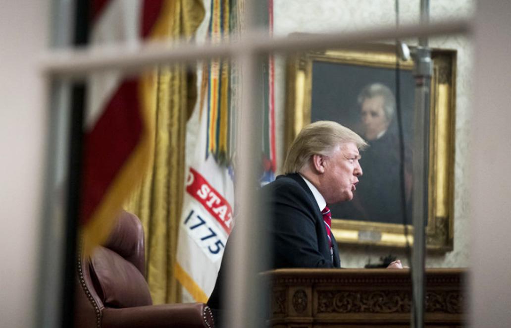 Trump and wall debate