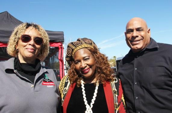 Ellen Turner, Community Organizer, Trudy Coleman; & Michael Townsend.
