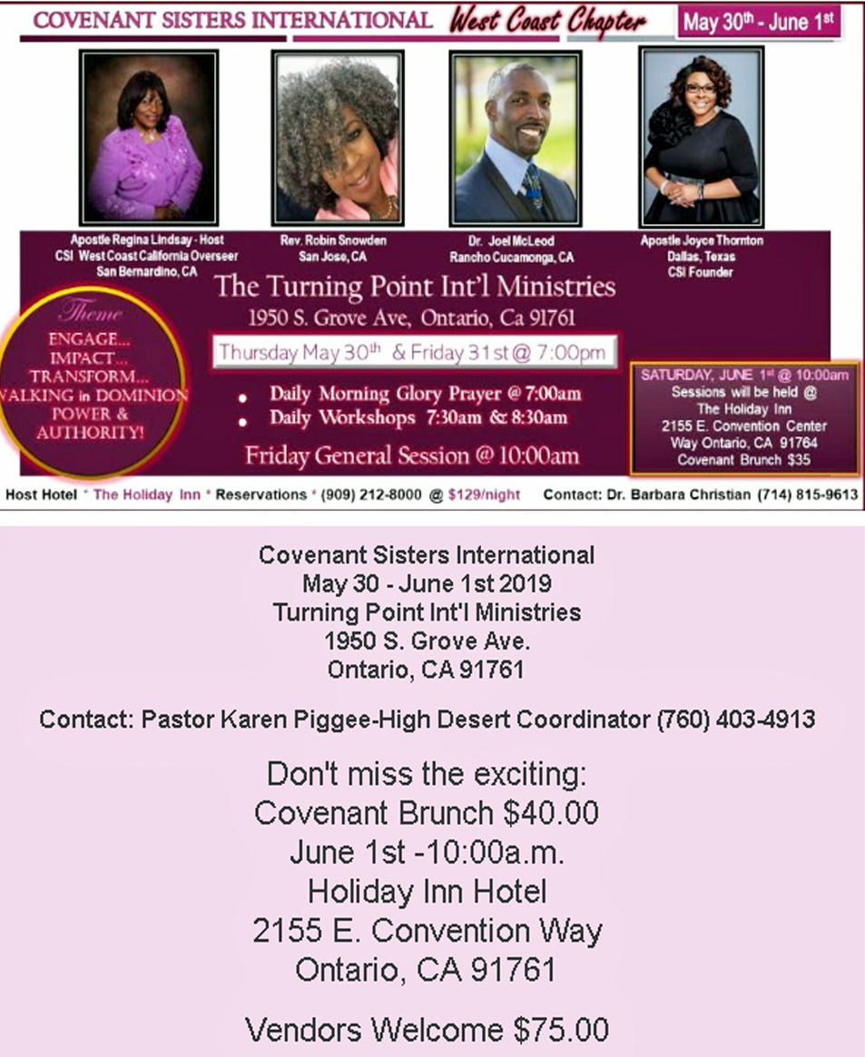 Covenant Sisters International flyer