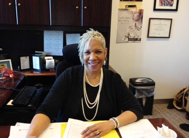 Jeri Green at her desk at the US Census Bureau in 2016. For over three decades, Green has helped make the decennial census a leading civil rights issue, both as a Census Bureau insider, and now as an advocate for the National Urban League.