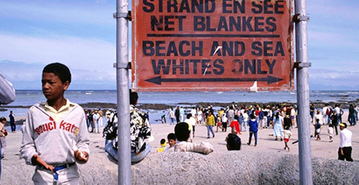 South African white only beach