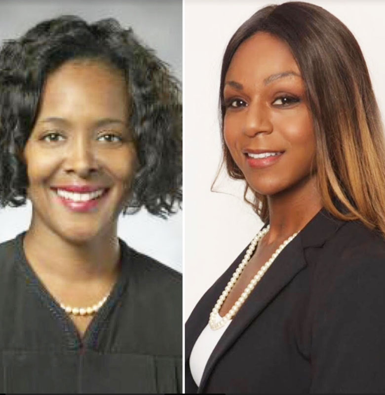 Judge Terrie E Roberts and Tricia J Taylor