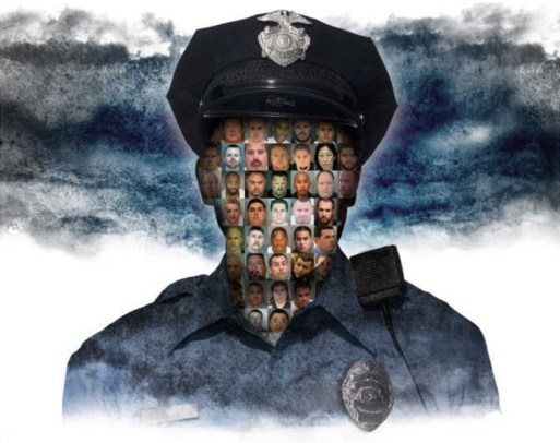 Pai/Bay Area News Group and Getty Images A list of the officers and convictions that are featured in this illustration is at the end of this story.