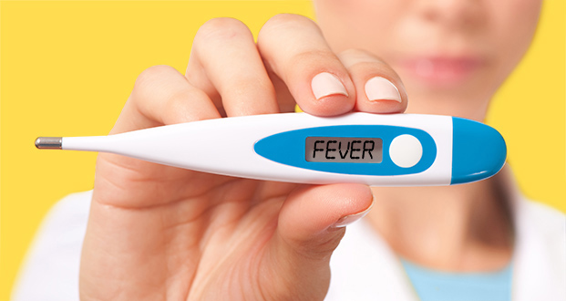 Doctor Nurse Holding Digital Thermometer Isolated on White Background