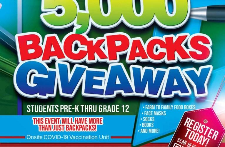 5,000 Backpacks Giveaway – Free to San Bernardino County Youth