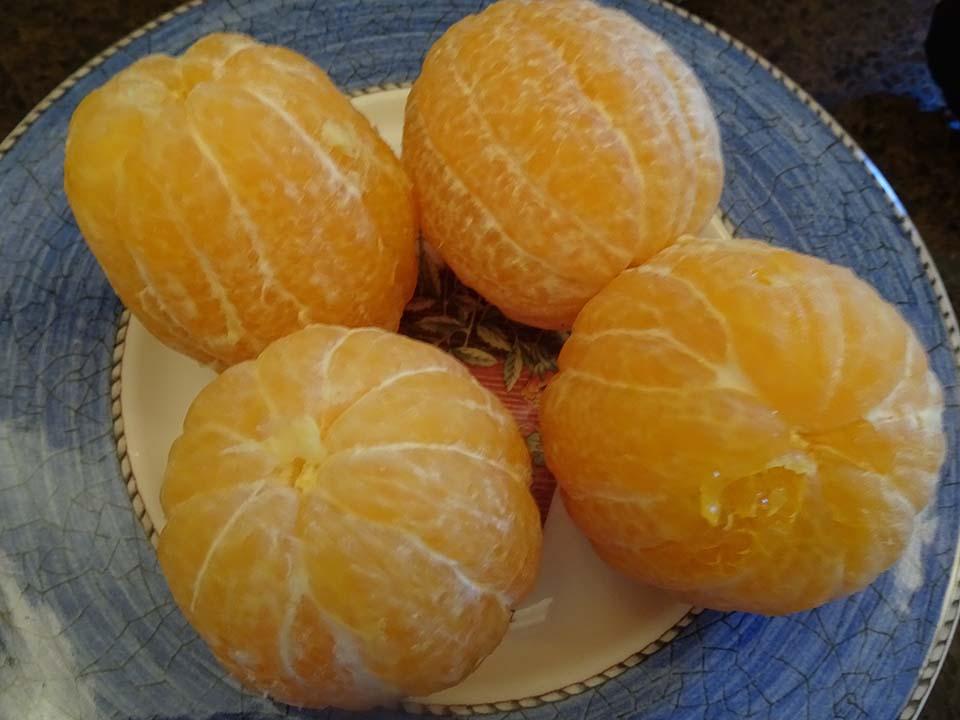 7. Oranges ;eeled.