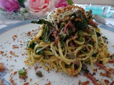 Pasta with Purple Sprouting Broccoli - 4