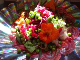 Beetroot, pea and fresh herb salad -1