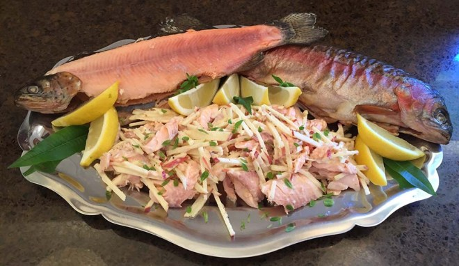 Smoked Trout & Pink Lady Apple Salad - Feature Image - r