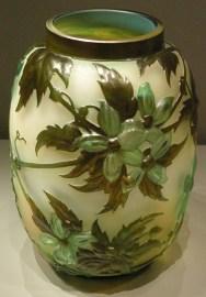 Gallé , Clematis Vase, 1890-1900