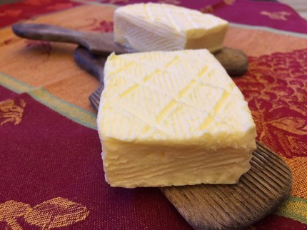 The finished butter - I love my old butter pats...