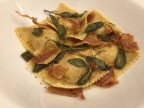 Roast Pumpkin Ravioli with Burnt Butter Sauce and Crispy Sage