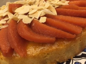 Citrus Syrup Cake with Quinces Poached in Orange and Cardamom Syrup