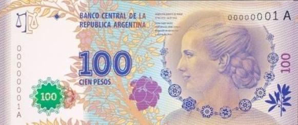 100 pesos evita