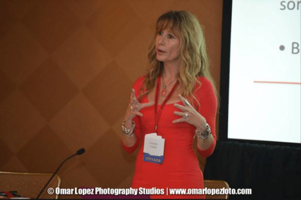 Lorraine C. Ladish at Hispana Leadership Institute Conference in Dallas, TX