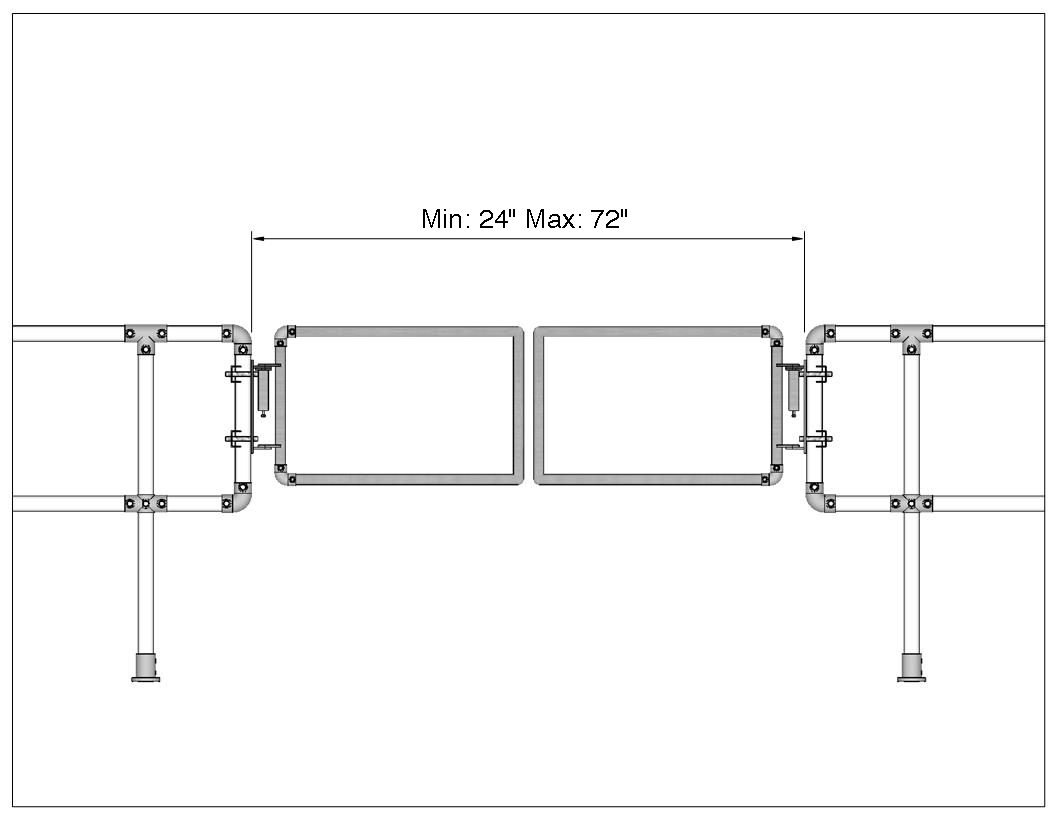 Industrial Safety Gate For Large Openings