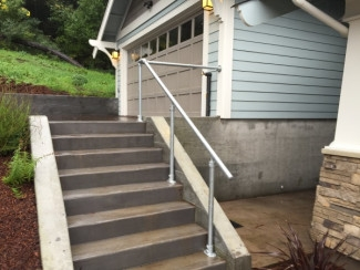 Diy Step Handrail Plans And Ideas Simplified Building | Diy Handrails For Outdoor Steps | Easy | External Step | Metal | Entrance | Diy Stone