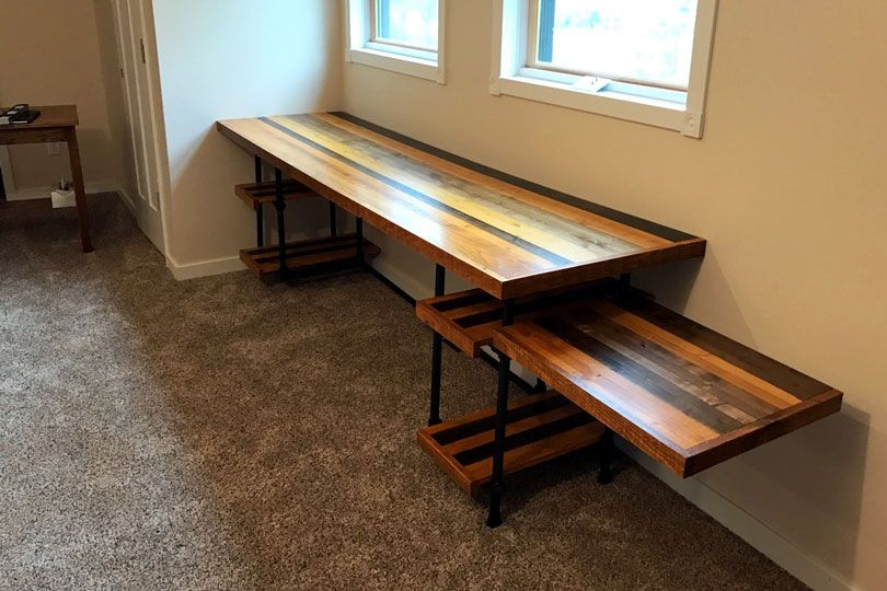 Diy Industrial Pipe Desk With Adjustable Shelves Simplified Building