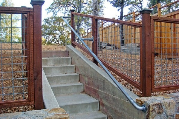 15 Customer Railing Examples For Concrete Steps Simplified Building | Commercial Handrails For Outdoor Steps | Simplified Building | Stair Treads | Porch | Front Porch | Custom
