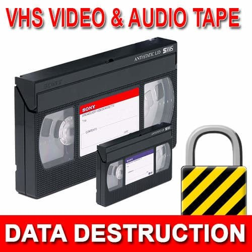 VHS Video Data Destruction