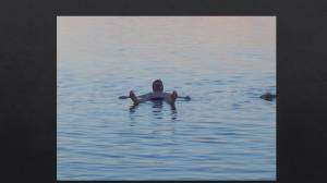 Floating in Dead Sea