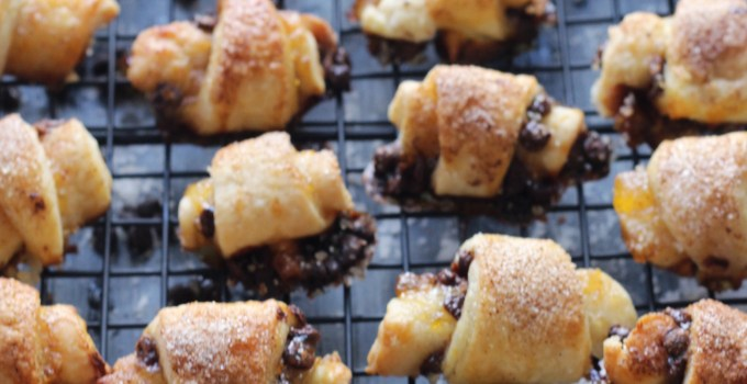 Chocolate Apricot Cinnamon Rugelach