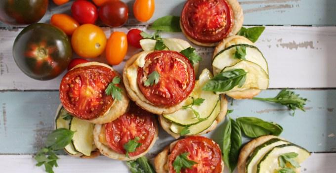 Ricotta Sage Tarts with Kumato & Zucchini