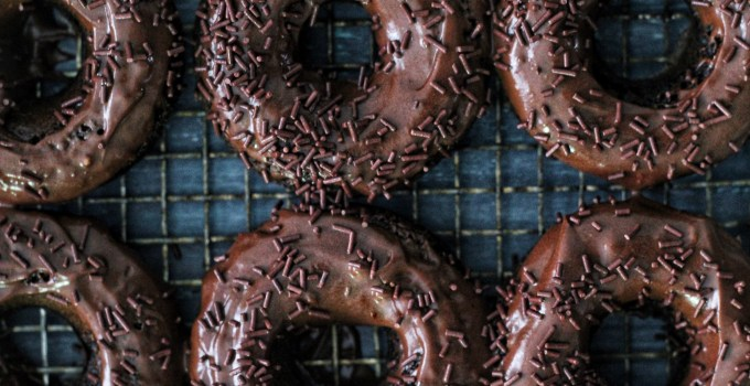 Baked Chocolate Sprinkle Donuts + Food Props & Background Tips