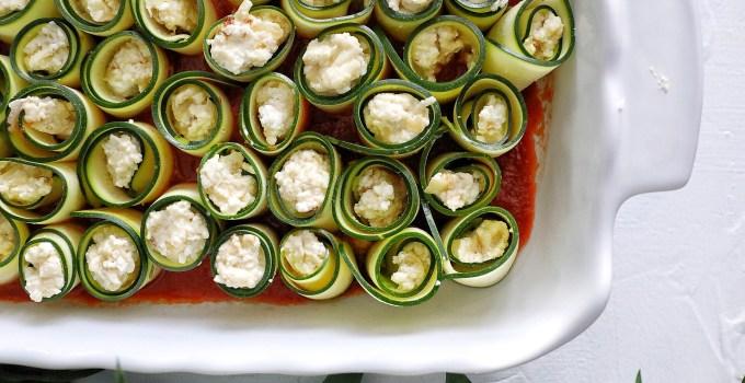 Six Cheese Zucchini Rollatini's