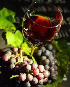 виноград бокал вина