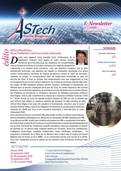 Newsletter ASTech Paris Region