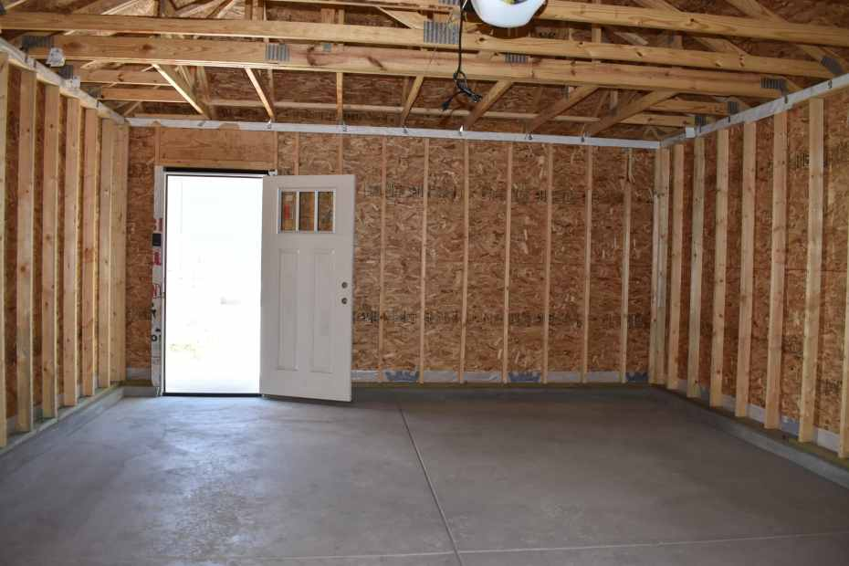 garage from lift door