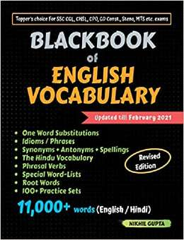 BlackBook of English Vocabulary PDF Book Free Download