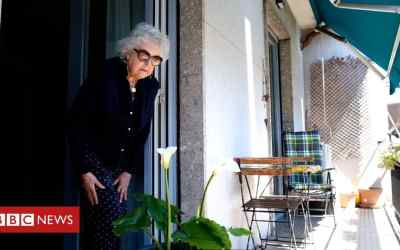Italian grandmother's first trip outside after lockdown
