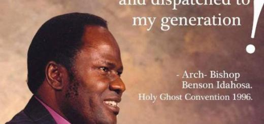 Download ArchBishop Benson Idahosa's Sermons