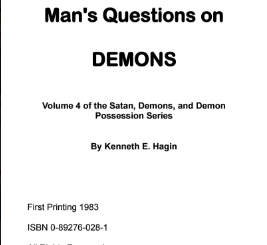 Download Bible Answers to Man's Questions on by Kenneth E Hagin