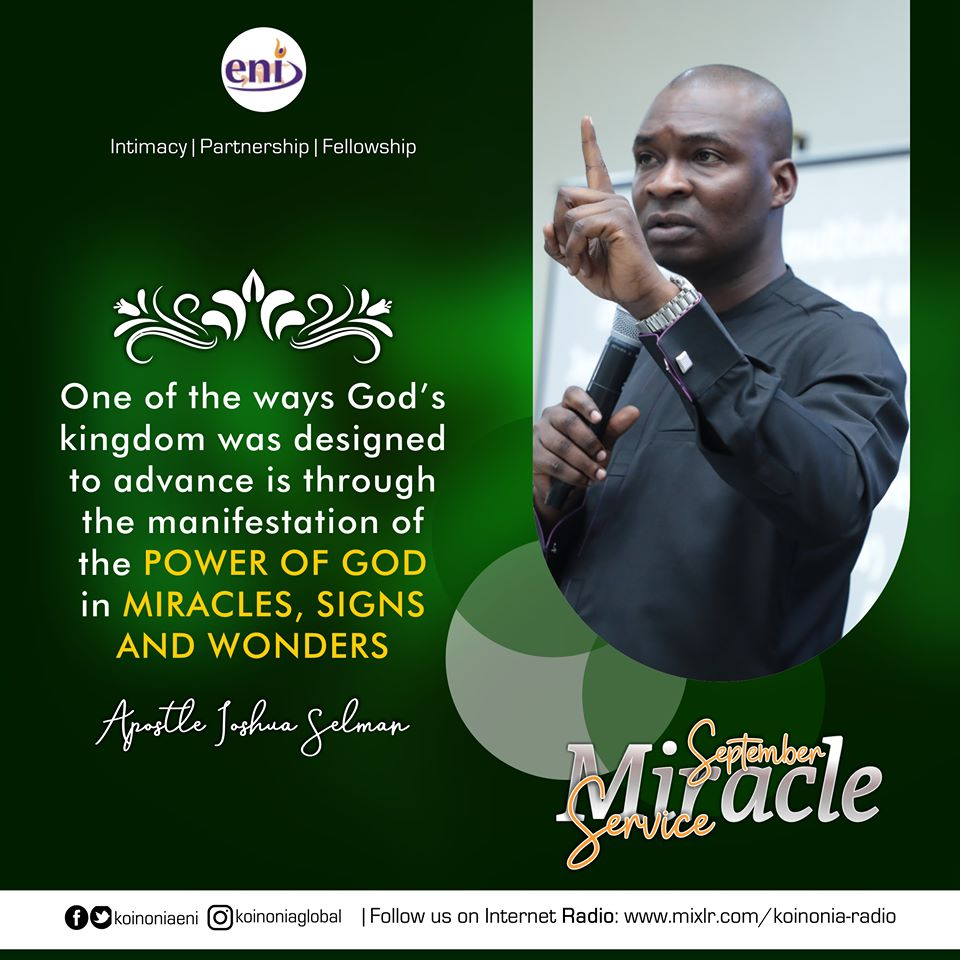 September 2019 Miracle Service Koinonia with Apostle Joshua Selman Nimmak