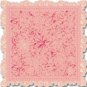 Pink Floral Scalloped 12x12 Paper - Creative Imaginations