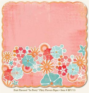 So Pretty Flirty Flowers 12x12 Paper - My Mind's Eye
