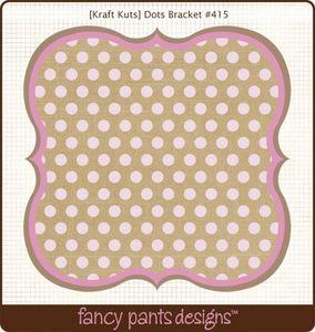 Dots Bracket Die Cut by Fancy Pants