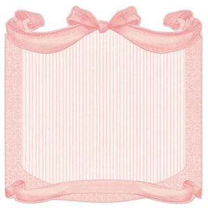 Blush Bow Die-cut Paper - Creative Imaginations