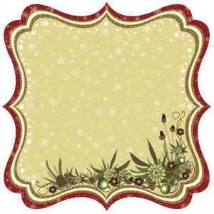 Christmas Joy Die-cut Paper - Merry Christmas By Best Creation