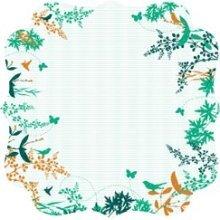Floral Bracket Die-cut Paper - Hummingbird By Kaiser Craft