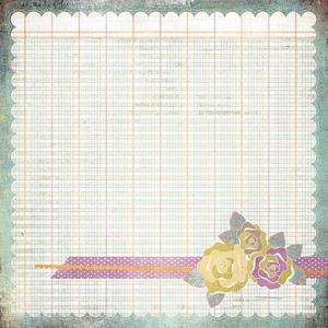 Floweret Paper - Plumeria - Basic Grey