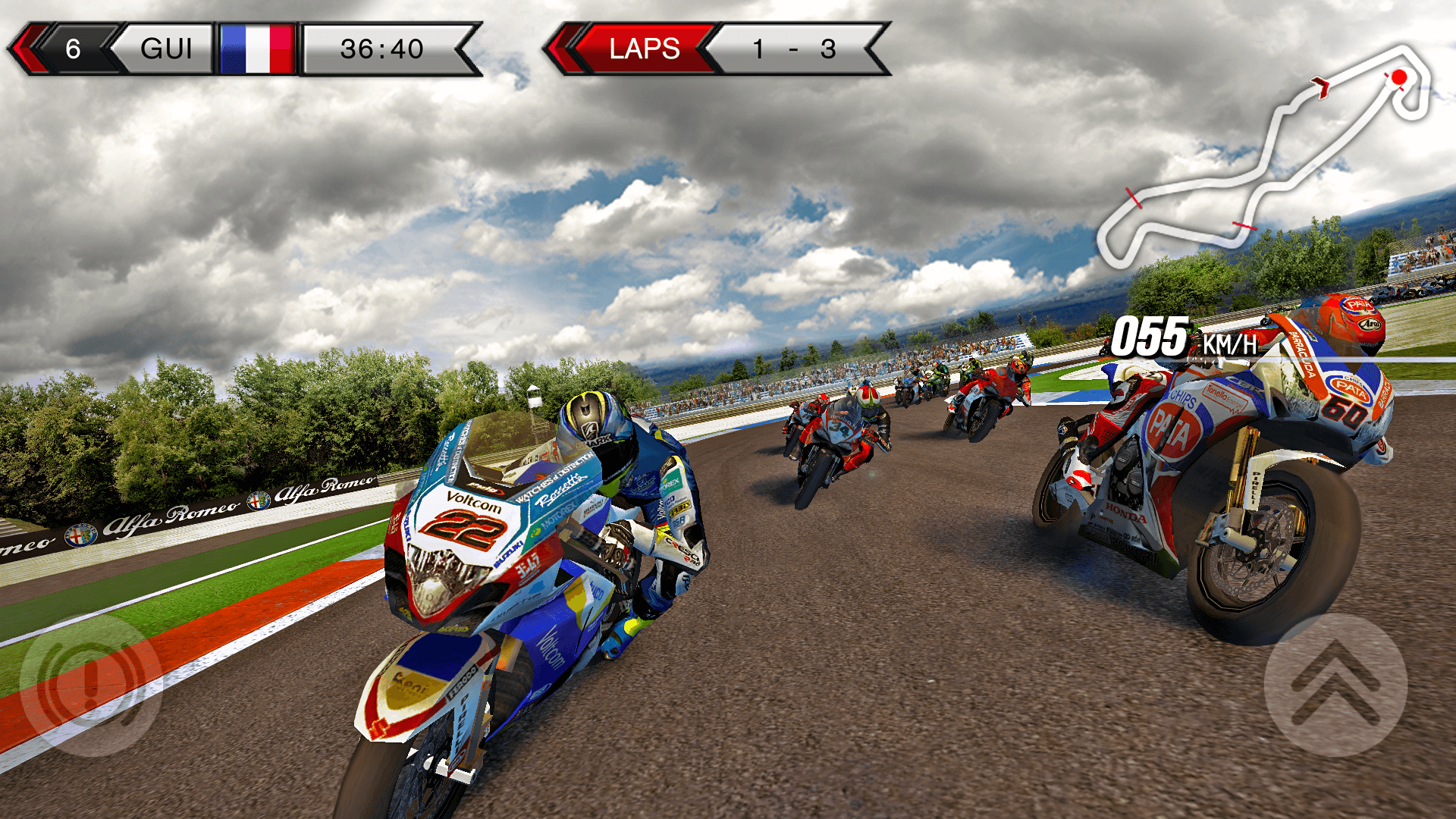 Speed through 13 real tracks from the eni FIM Superbike World Championship