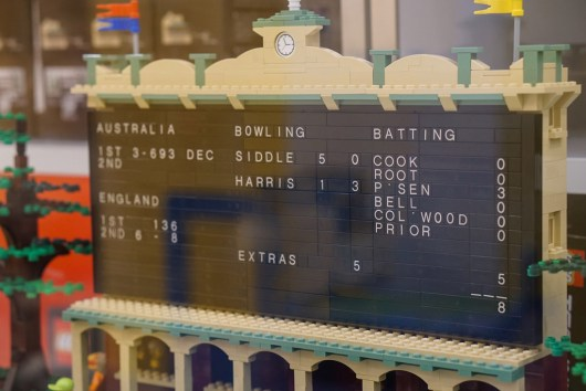 Adelaide Oval scoreboard in LEGO display in Myer