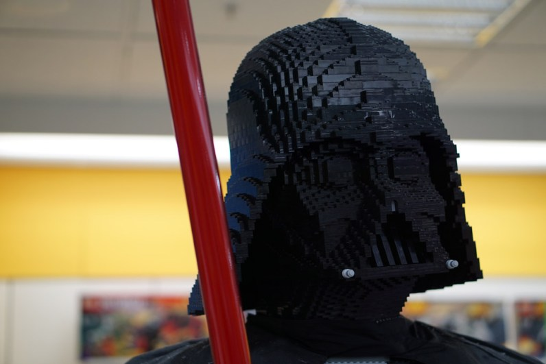 Darth Vader LEGO statue at Myer